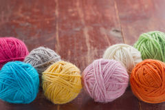 Knitting background, woolen yarn Stock Photo