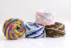 Colorful balls of woolen yarn Stock Photography