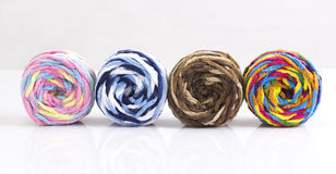 Colorful balls of woolen yarn Royalty Free Stock Photography