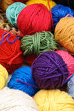 Colorful Balls of Yarn Stock Photos