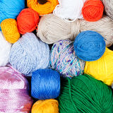 Colorful balls of yarn for knitting Royalty Free Stock Photos