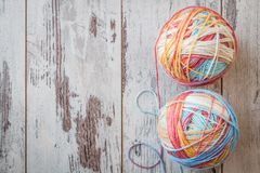 Colorful Balls of Yarn Royalty Free Stock Photography