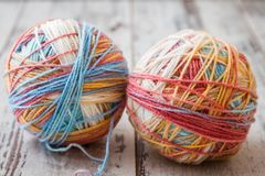 Colorful Balls of Yarn Royalty Free Stock Image