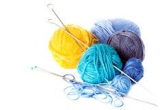 Colorful balls of yarn Stock Photography