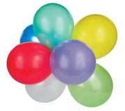 Colorful baloons. On white background Royalty Free Stock Photography