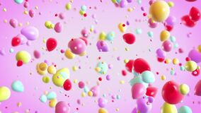 Colorful Baloons Explosion background