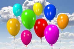 Colorful baloons... Royalty Free Stock Photos