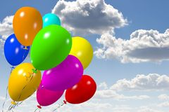 Colorful baloons... Stock Photos