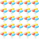 Colorful baloons on white background repetition cards backgrounds. Colorful balloons on white background repetition cards backgrounds isolated repeat decoration royalty free illustration