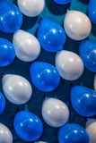 Colorful Baloons, White and Blue Royalty Free Stock Photos