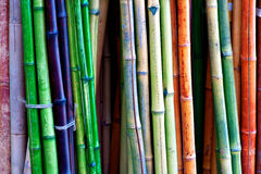 Colorful bamboo Royalty Free Stock Image