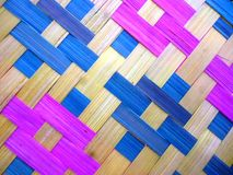 colorful bamboo fans as background Royalty Free Stock Photos