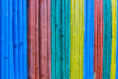 Colorful of bamboo fence. Stock Image