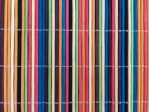 Colorful bamboo mat Stock Photo