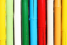 Colorful bamboo wall Stock Photos