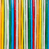 Colorful bamboo wall Royalty Free Stock Photo