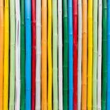 Colorful bamboo wall Royalty Free Stock Photo