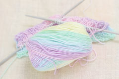 Colorful bamboo yarn Royalty Free Stock Images