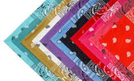 Colorful bandana isolated Royalty Free Stock Images