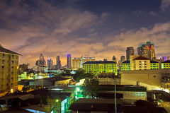 Colorful Bangkok City Skyline Royalty Free Stock Photo