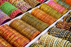 Colorful bangles - jewelery bracelets Stock Photography