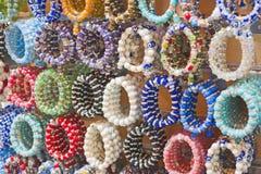 Colorful bangles at a market stall Royalty Free Stock Photos