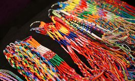 Colorful bangles and necklaces colorful wire Stock Photography
