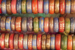 Colorful Bangles in a row . Stock Photos