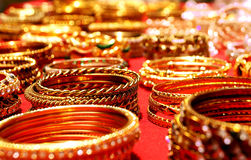 Colorful bangles:Traditional Indian wedding symbol Stock Photography