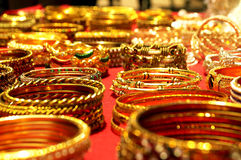 Colorful bangles:Traditional Indian wedding symbol Stock Image