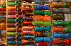 Colorful bangles Stock Photography