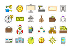 Colorful banking  icons set Royalty Free Stock Images