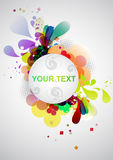 Colorful banner. With decorative elements vector illustration