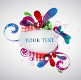 Colorful banner. With decorative elements royalty free illustration