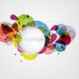 Colorful banner. With decorative elements stock illustration