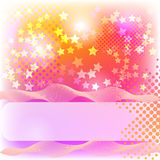 Colorful banner. Abstract banner with stars, halftone and blend Stock Image