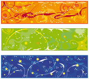 Colorful banner collection Stock Image