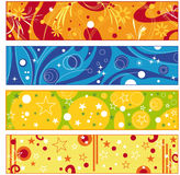 Colorful banner collection Royalty Free Stock Photo