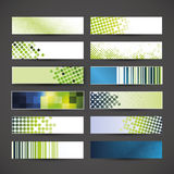 12 Colorful Banner Designs. Set of 12 Colorful Abstract Header or Banner Designs in Freely Scalable & Editable Vector Format vector illustration