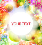 Colorful banner with flowers Stock Photos