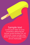Colorful banner with ice cream. In flat style design Royalty Free Stock Photos