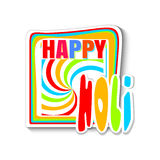 Colorful banner for the Indian festival of colors - Holi. Happy Holi. Vector illustration Royalty Free Stock Photo