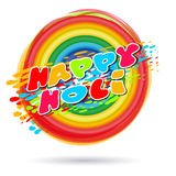 Colorful banner for Indian festival of colors and spring. Happy Holi lettering card Stock Images