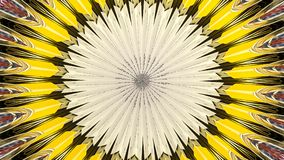 Colorful Banner Kaleidoscope Design Abstract. Colorful Banner Kaleidoscope design mandala fractal in shades of white and yellow Stock Image