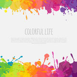 Colorful banner with paint stains Stock Photography