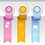 Colorful banner ribbon. Element  for infographic Stock Photo