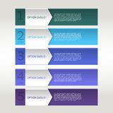 Colorful banner ribbon. Element  for infographic Royalty Free Stock Images