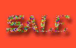 Colorful banner Sale on a red background Royalty Free Stock Image