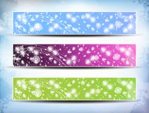 Colorful Banner Set Royalty Free Stock Image