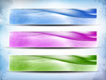 Colorful Banner Set Royalty Free Stock Photos